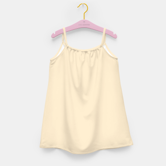 Miniatur color blanched almond Girl's dress, Live Heroes