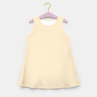 Miniatur color blanched almond Girl's summer dress, Live Heroes