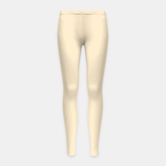 Miniatur color blanched almond Girl's leggings, Live Heroes