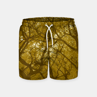 Miniaturka Forest Landscape Illustration Swim Shorts, Live Heroes