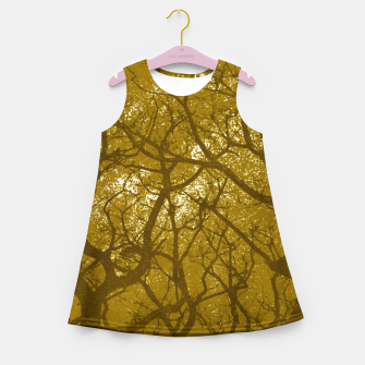Miniatur Forest Landscape Illustration Girl's summer dress, Live Heroes