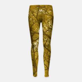 Miniatur Forest Landscape Illustration Girl's leggings, Live Heroes