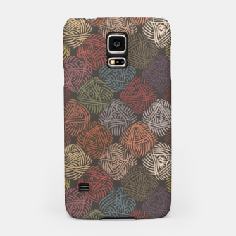 Miniaturka Yarnoholic paradise in warm brown Samsung Case, Live Heroes