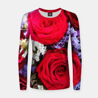 Thumbnail image of bouquet of rose and perturbed Bluza damska, Live Heroes