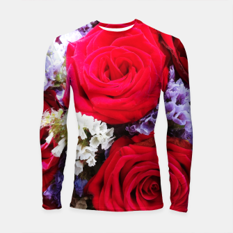 Thumbnail image of bouquet of rose and perturbed Rashguard długi rękaw, Live Heroes