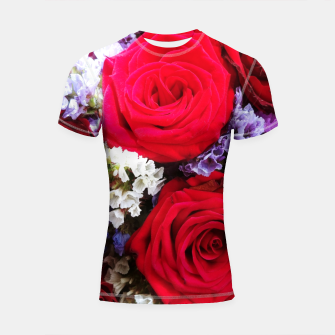 Thumbnail image of bouquet of rose and perturbed Rashguard krótki rękaw, Live Heroes