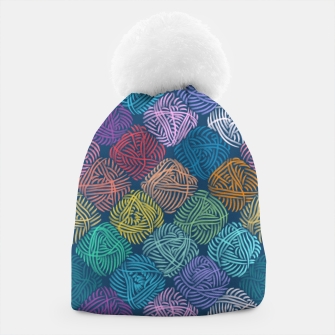 Thumbnail image of Yarnoholic paradise in ocean blue Beanie, Live Heroes