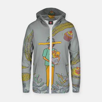 Thumbnail image of Muffin Zip up hoodie, Live Heroes