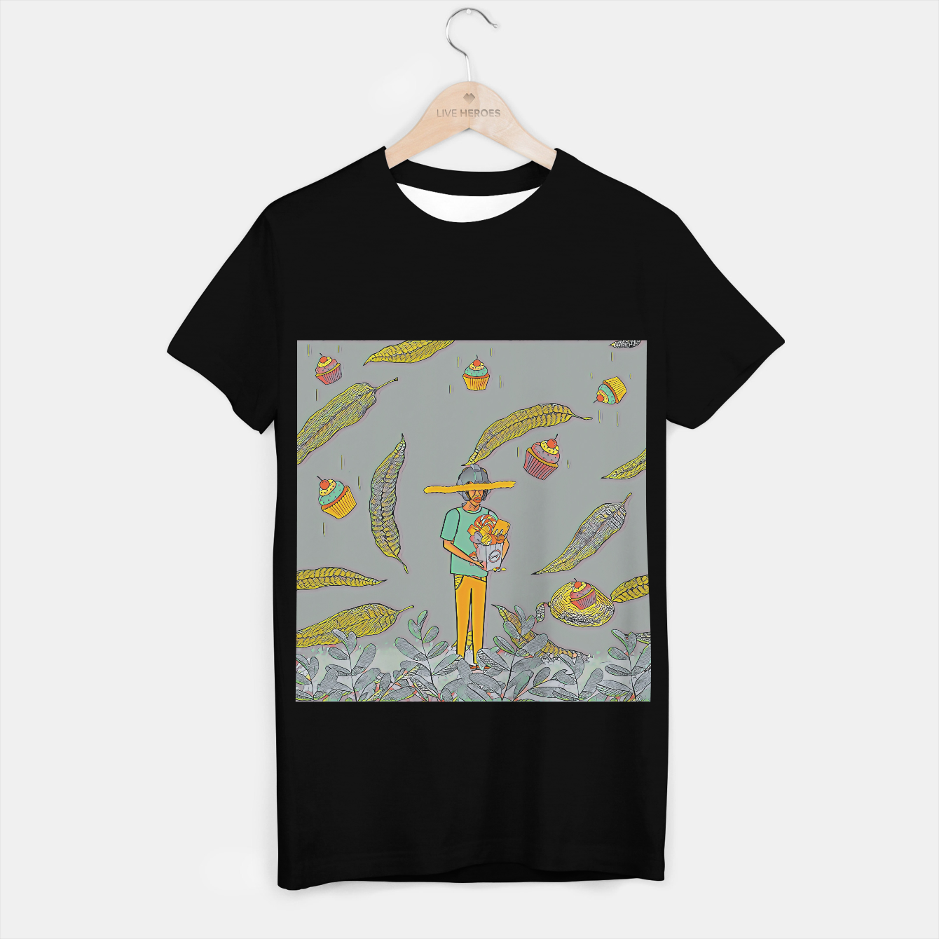 Image of Muffin T-shirt regular - Live Heroes