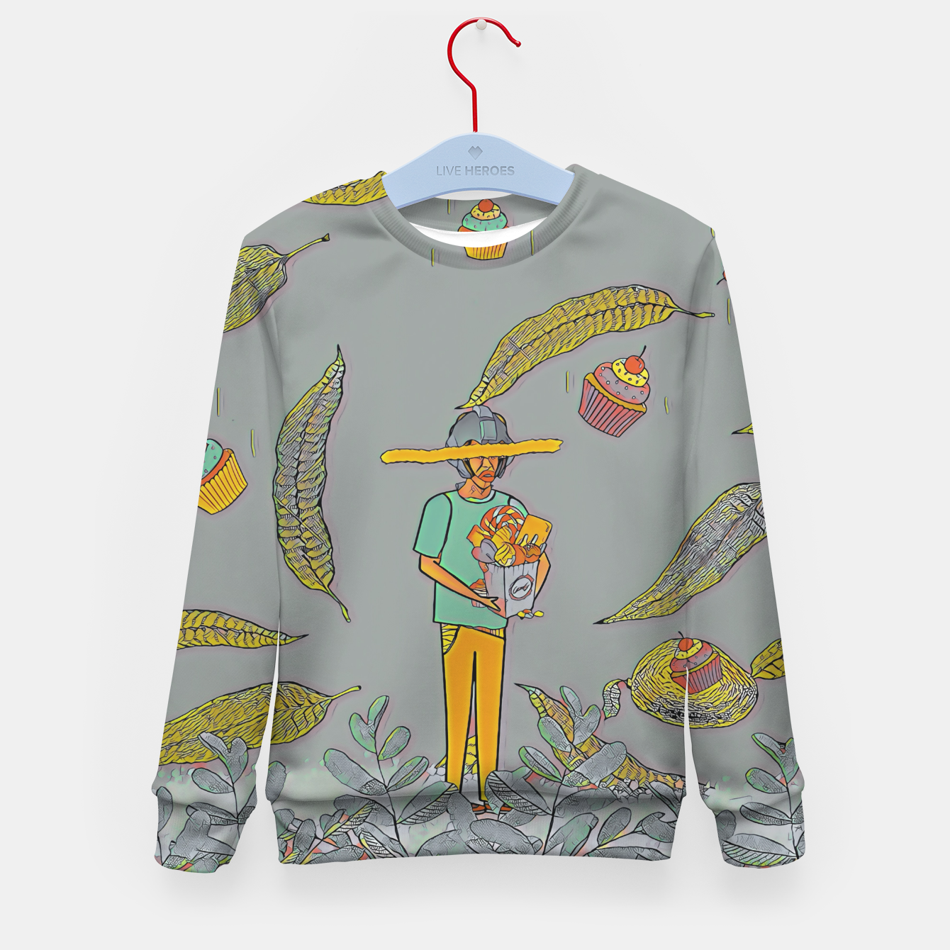 Image of Muffin Kid's sweater - Live Heroes