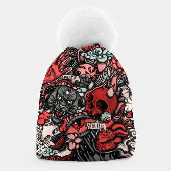 Miniatur Still Here Red Beanie, Live Heroes
