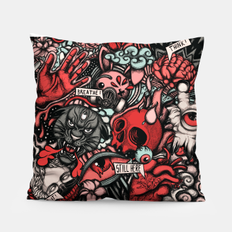 Miniatur Still Here Red Pillow, Live Heroes