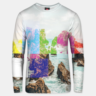 Virtual Sky Glitch Unisex sweater thumbnail image