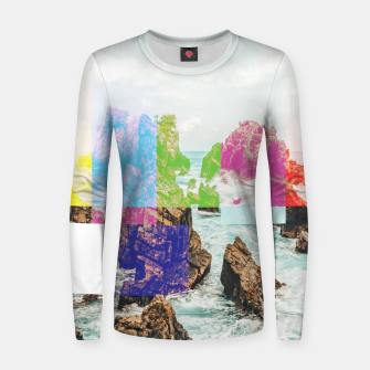 Thumbnail image of Virtual Sky Glitch Women sweater, Live Heroes