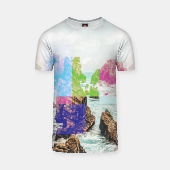 Miniatur Virtual Sky Glitch T-shirt, Live Heroes