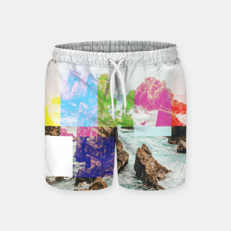 Miniatur Virtual Sky Glitch Swim Shorts, Live Heroes