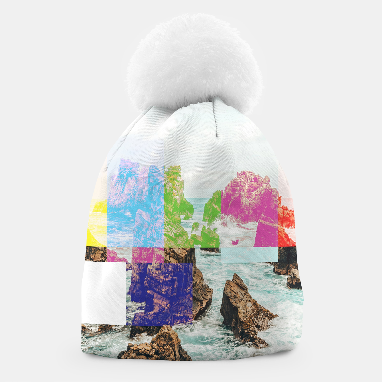 Image of Virtual Sky Glitch Beanie - Live Heroes