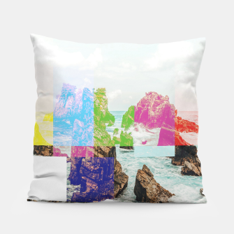 Thumbnail image of Virtual Sky Glitch Pillow, Live Heroes