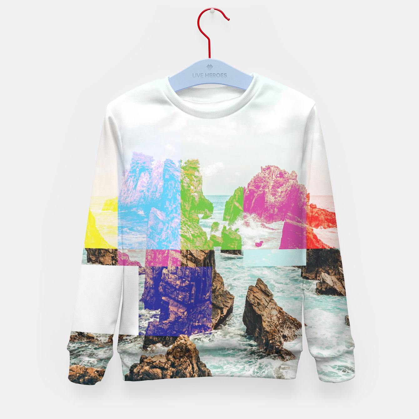 Image of Virtual Sky Glitch Kid's sweater - Live Heroes