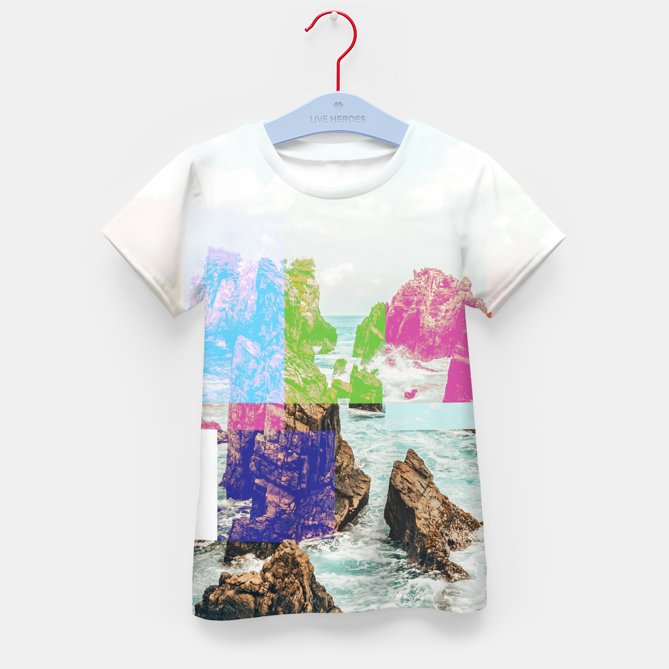 Image of Virtual Sky Glitch Kid's t-shirt - Live Heroes