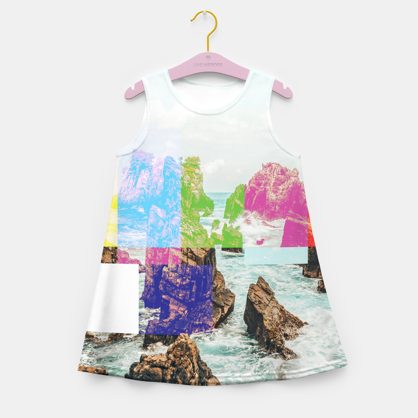 Image of Virtual Sky Glitch Girl's summer dress - Live Heroes