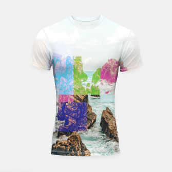 Thumbnail image of Virtual Sky Glitch Shortsleeve rashguard, Live Heroes