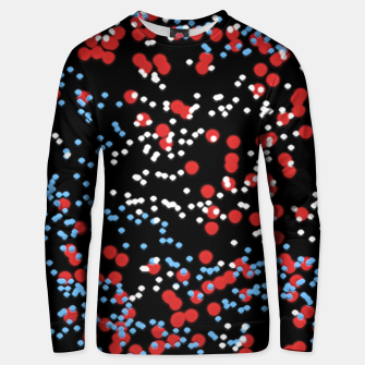 Thumbnail image of Multicolored Bubbles Motif Abstract Pattern Unisex sweater, Live Heroes