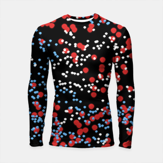Thumbnail image of Multicolored Bubbles Motif Abstract Pattern Longsleeve rashguard , Live Heroes