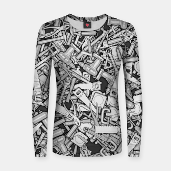 Thumbnail image of Toolbox DIY Tools Pattern Women sweater, Live Heroes