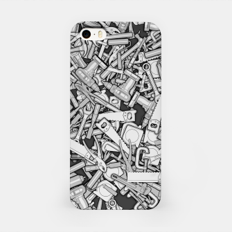 Thumbnail image of Toolbox DIY Tools Pattern iPhone Case, Live Heroes