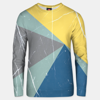 Thumbnail image of Pattern Effet Triangles Bleu/Jaune/Gris Unisex pull, Live Heroes