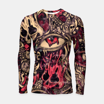 Thumbnail image of Washed Melting Longsleeve rashguard , Live Heroes