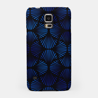 Thumbnail image of Vintage Foil Palm Fans in Classic Blue and Black Art Deco Neo Classical Pattern Samsung Case, Live Heroes