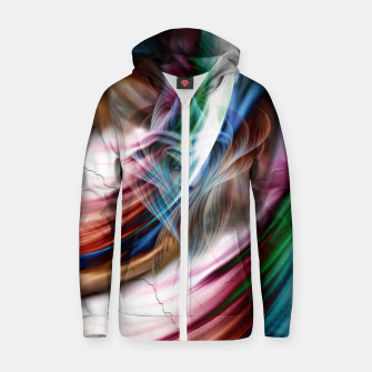 Whispers In A Dreams Of Beauty Fractal Art Zip up hoodie obraz miniatury