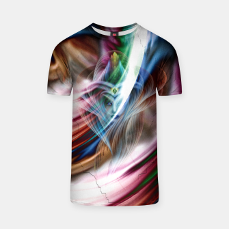 Whispers In A Dreams Of Beauty Fractal Art T-shirt obraz miniatury