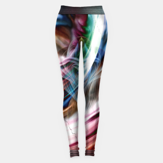 Whispers In A Dreams Of Beauty Fractal Art Leggings thumbnail image