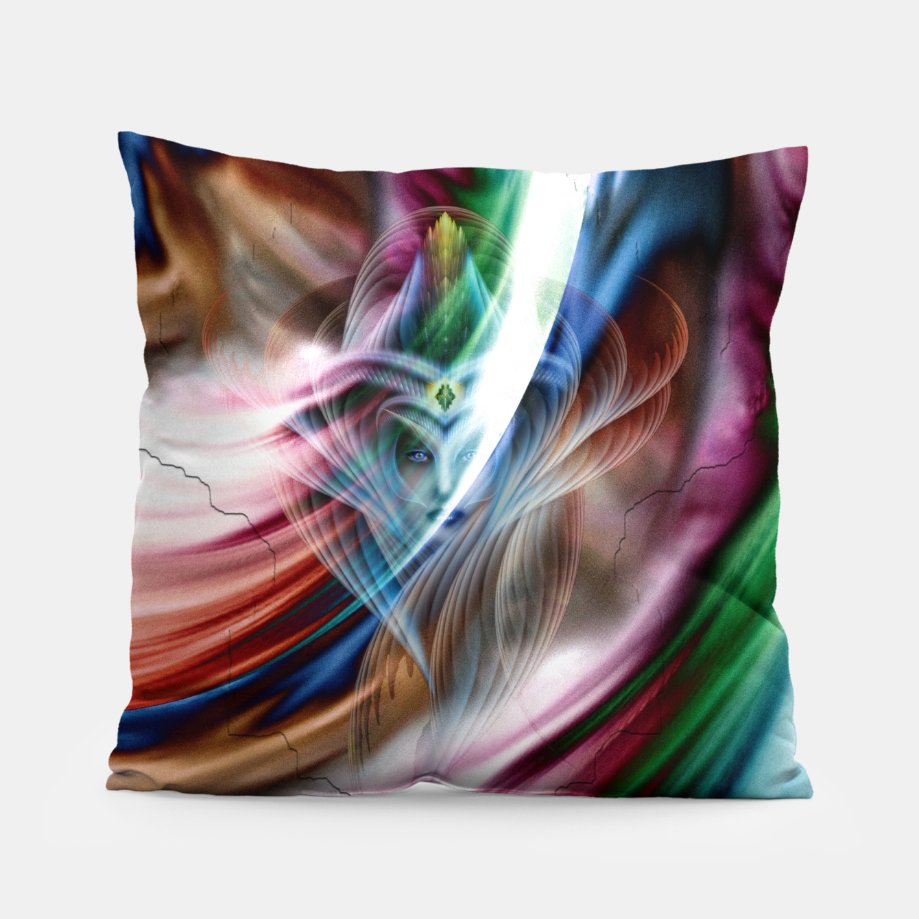 Image of Whispers In A Dreams Of Beauty Fractal Art Pillow - Live Heroes
