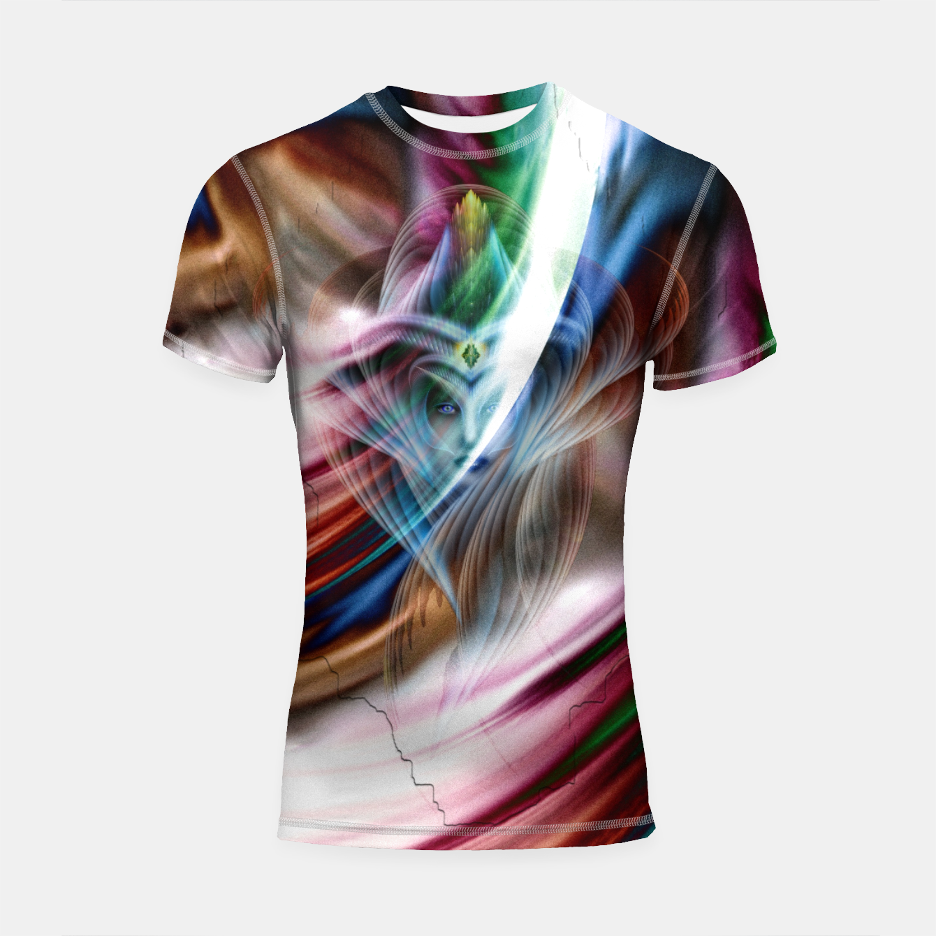 Image of Whispers In A Dreams Of Beauty Fractal Art Shortsleeve rashguard - Live Heroes