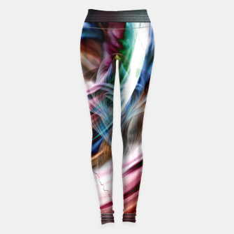 Whispers In A Dreams Of Beauty Fractal Art Leggings obraz miniatury