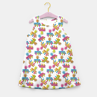 Thumbnail image of Pattern 1 Girl's summer dress, Live Heroes