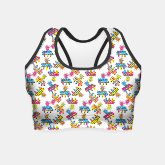 Thumbnail image of Pattern 1 Crop Top, Live Heroes