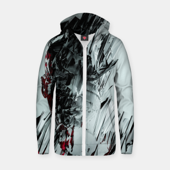 Thumbnail image of Abstract Portrait I Zip up hoodie, Live Heroes