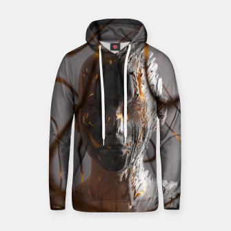 Thumbnail image of Abstract Portrait II Hoodie, Live Heroes