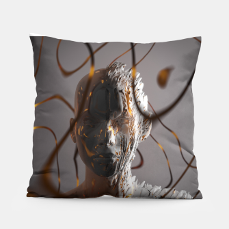 Thumbnail image of Abstract Portrait II Pillow, Live Heroes