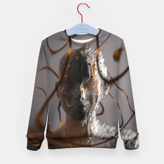 Thumbnail image of Abstract Portrait II Kid's sweater, Live Heroes