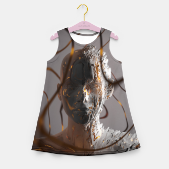 Thumbnail image of Abstract Portrait II Girl's summer dress, Live Heroes