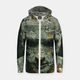 Thumbnail image of Abstract Portrait IX Zip up hoodie, Live Heroes
