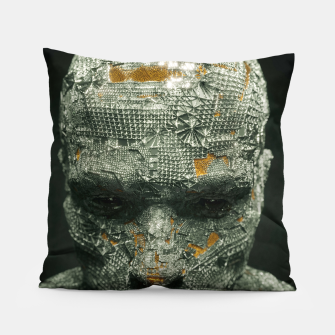 Thumbnail image of Abstract Portrait IX Pillow, Live Heroes