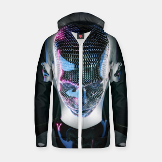Thumbnail image of Abstract Portrait V Zip up hoodie, Live Heroes