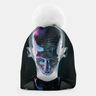 Thumbnail image of Abstract Portrait V Beanie, Live Heroes